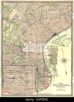 Philadelphia town city map plan Pennsylvania RAND MCNALLY 1912