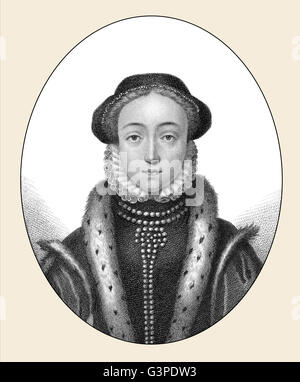 Lady Jane Grey, 1536 - 1554, briefly Queen of England, Queen of thirteen days - Stock Photo
