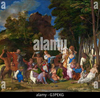 Giovanni Bellini and Titian - The Feast of the Gods - National Gallery of Art, Washington DC - Stock Photo