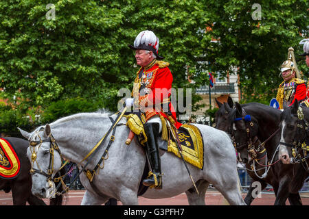 Lord Vestey , Master of the Horse at The Queen's Birthday Parade also known as The Trooping Of The Colour , The - Stock Photo