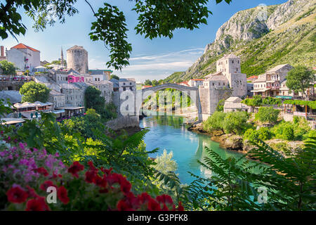 Old Bridge in Mostar, Bosnia and Herzegovina - Stock Photo
