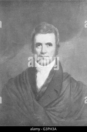 LAW: John Marshall, Chief Justice U S Supreme Court, antique print 1907 - Stock Photo