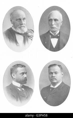 CANADA WRITERS: Wm Dawson; Goldwin Smith; Gilbert Parker; Louis Frechette, 1907 - Stock Photo
