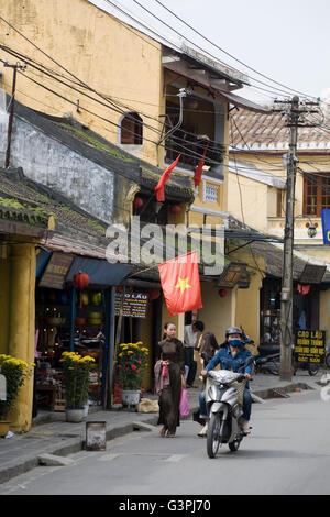 Street scene in Hoi An, Vietnam, Southeast Asia, Asia - Stock Photo
