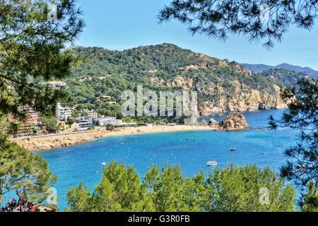 Panorama of Tossa de Mar, Spain, on May 24, 2016 - Stock Photo