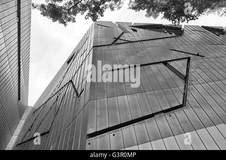 July 2015 - The Jewish Museum Berlin, Berlin, Germany: Facade detail. It is designed by architect Daniel Libeskind. - Stock Photo