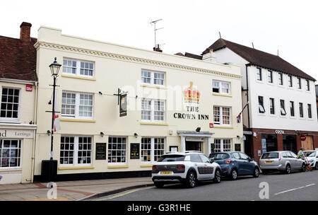 The Crown Inn and hotel Emsworth Hampshire UK - Stock Photo