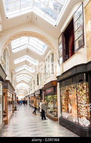 Upmarket shops in Burlington Arcade, Piccadilly, London, England, UK - Stock Photo