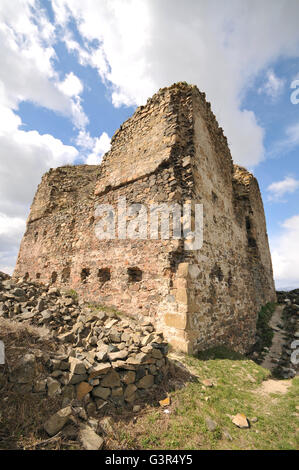 Ruins of Saris castle in Slovakia - Stock Photo
