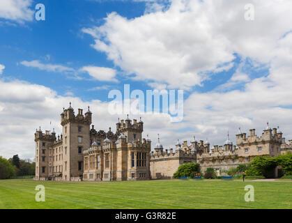 South front of Floors Castle, seat of the Duke of Roxburghe, Kelso, Scottish Borders, Scotland, UK. Scottish castles. - Stock Photo