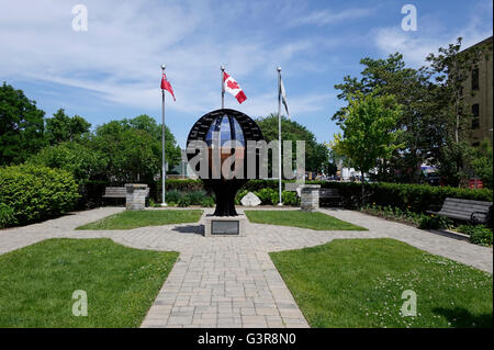 The Time Capsule At Banting House Museum London Ontario, Birthplace Of Insulin And Home Of Dr Banting - Stock Photo