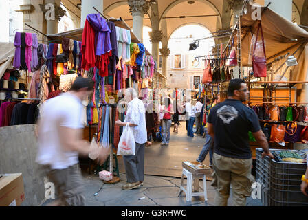 The  Mercato Nuovo, popularly known as the Loggia del Porcellino Florence, Tuscany, Italy, Europe - Stock Photo