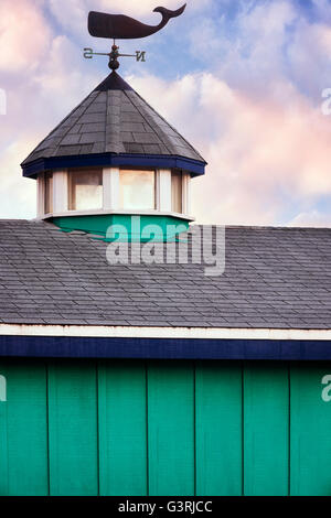 A whale of a weathervane at Fisherman's Wharf in Monterey Harbor, California. - Stock Photo