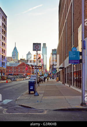 Philadelphia, USA - May 4, 2015: Convention Center District in the City Center of Philadelphia, Pennsylvania, USA. - Stock Photo