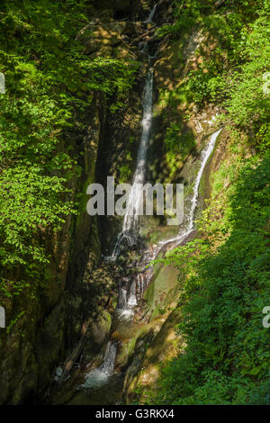 A view of the beautiful Stock Ghyll Force Waterfall in Ambleside, the Lake District.
