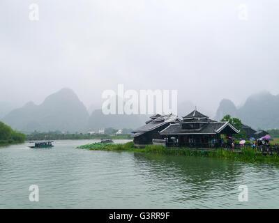The Shangri-La Park in Yangshuo County, Guilin, Guangxi, China. - Stock Photo