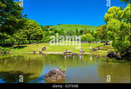 Grounds of Nara Park in Kansai Region - Japan - Stock Photo
