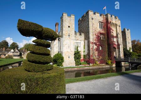 Hever Castle and gardens, Hever, Kent, England, United Kingdom, Europe - Stock Photo