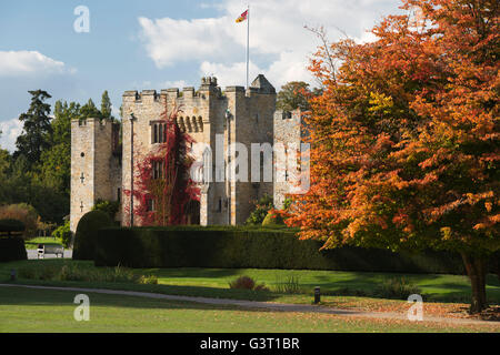 Hever Castle and gardens, Hever, Kent, England, United Kingdom, Europe - Stock Photo