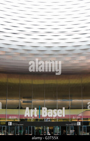 Basel, Switzerland. 14 June, 2016. Entrance to Basel's exhibition hall at the opening of  'Art Basel 2016', one - Stock Photo