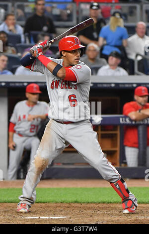 the Bronx, New York, USA. 6th June, 2016. Yunel Escobar (Angels), JUNE 6, 2016 - MLB : Yunel Escobar of the Los - Stock Photo
