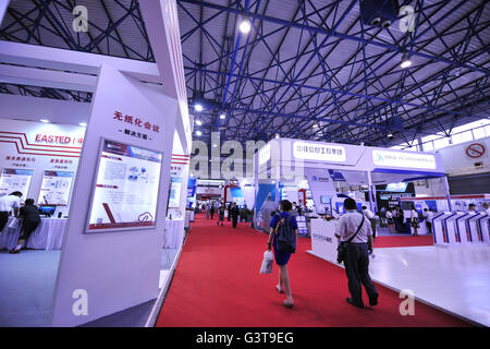 Beijing, China. 15th June, 2016. People visit Chinese Defense Information Equipment & Technology Exhibition 2016 - Stock Photo