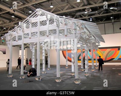 The 'White House' by Ai Weiwei ranks among the most spectacular pieces at the Art Basel art fair in Basel, Switzerland, - Stock Photo