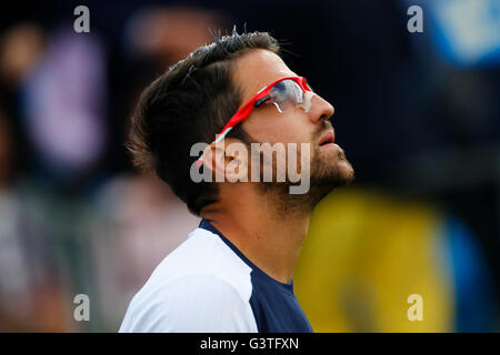 London, UK. 15th June, 2016. Aegon Queens Tennis Championships Day Three.  Janko Tipsarevic (SRB) in his 2nd round - Stock Photo