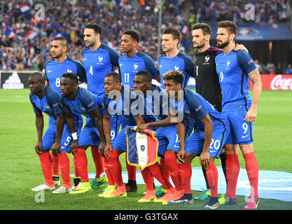 Marseille, France. 15th June, 2016. The team of France poses for photographers before the UEFA Euro 2016 Group A - Stock Photo