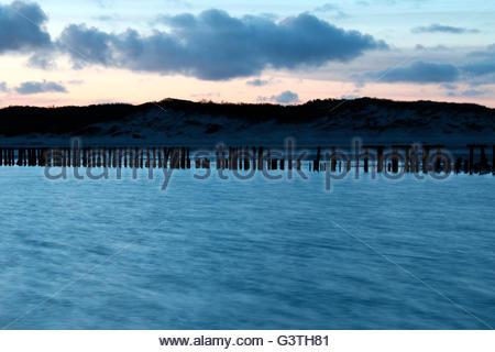 eastern part of wangerooge, friesland district, lower saxony, germany, north sea - Stock Photo