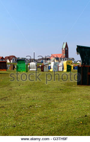 grimmershörner bucht, cuxhaven, cuxhaven district, lower saxony, germany, north sea - Stock Photo