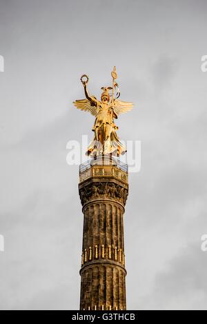 Germany, Berlin, Tiergarten, Siegessaule, View of Berlin Victory Column - Stock Photo