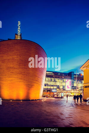Finland, Helsinki, Kamppi, View of Chapel - Stock Photo