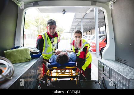 Injured Man With Ambulance Men Stock Photo Royalty Free