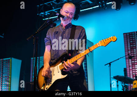 Fran Healy of Travis performs on stage at the O2 Forum in Kentish Town on May 9, 2016 in London, England. - Stock Photo