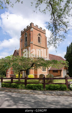 Church of St. John the Baptist, Windlesham, Surrey -2 - Stock Photo