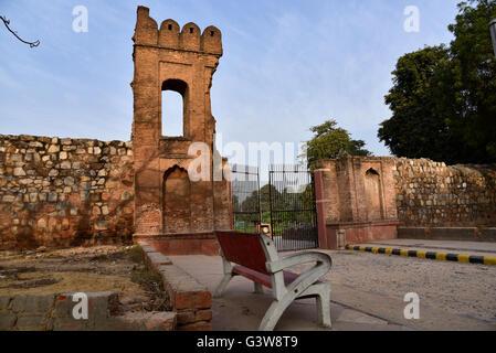 Entrance of Quli Khan's tomb in New Delhi, India - Stock Photo