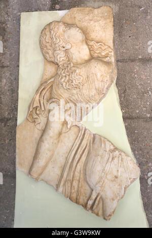 Corinth Greece Corinth Museum Marble Neo-Attic Relief Of Dancing Maenads Roman Period 1st Century - Stock Photo