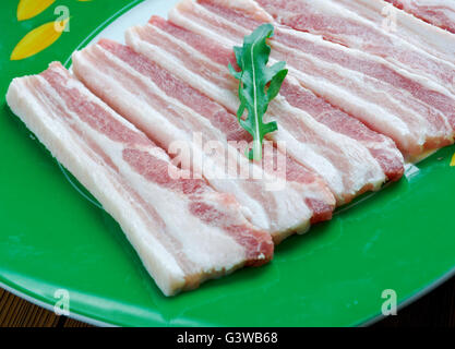 Ayrshire Bacon - Scottish traditional dish of pork - Stock Photo
