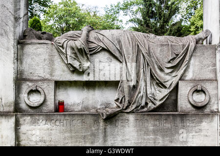 Cemeteries at the Halleschen Tor, tombs, partly from the 18th century, historical tombs, district of Kreuzberg, - Stock Photo
