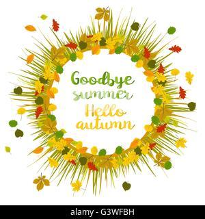 ... Hello Autumn. Goodbye Summer   Stock Photo