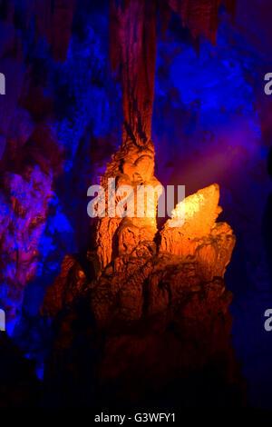 strange shapes in the karst cave. - Stock Photo