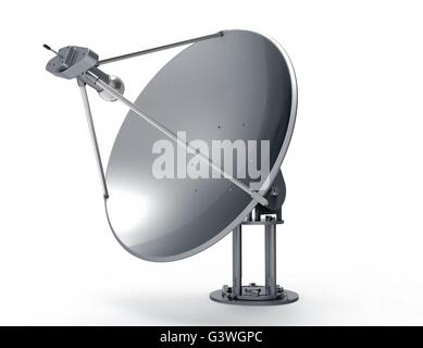 Satellite dish isolated on white back ground - Stock Photo