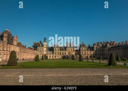 Palace of Fontainebleau France - Stock Photo