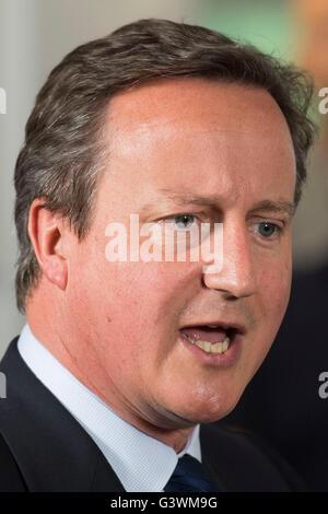 Former UK Prime Minister David Cameron - Stock Photo