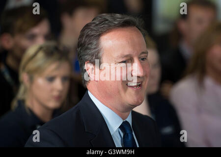 David Cameron Prime Minister of the United Kingdom and Conservative Party Leader speaks at a debate on the European Union.