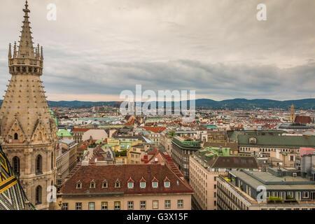 Panoramic view of Vienna - Stock Photo