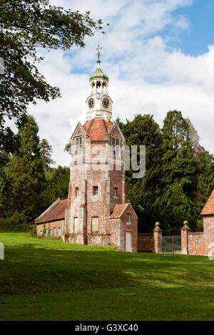 Breamore House Clock Tower, Hampshire, United Kingdom. - Stock Photo