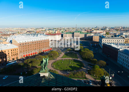 St Petersburg Panorama From St Isaak's Cathedral - Stock Photo
