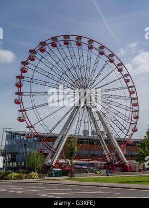 A Big Wheel erected temporarily in The Triangle, Bournemouth, as part of the annual Wheels Festival in May 2016 - Stock Photo